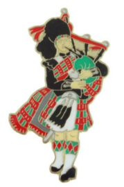 Doedelzakspeler pin badge