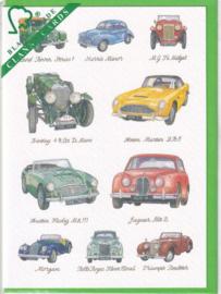 Kaart CC228 Great British Cars