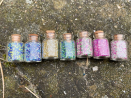 Elvenzand in glazen flesje Mix