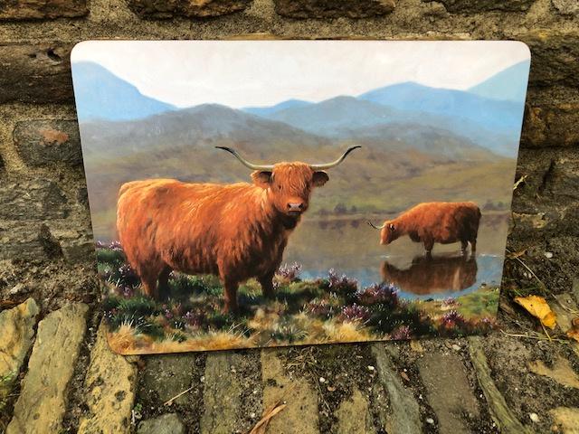 Julian Friers Placemat Highland Cows