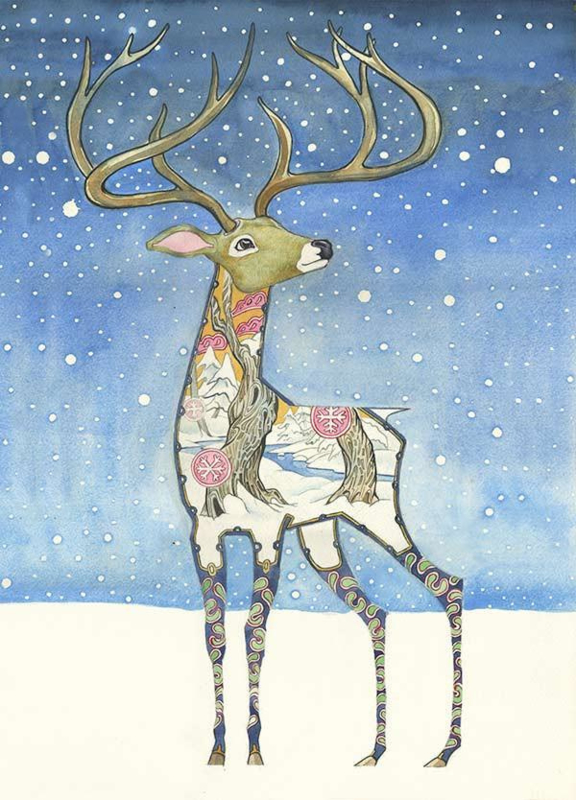 Daniel Mackie - Stag in the snow
