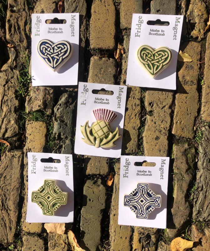Keltische Magneetjes van keramiek