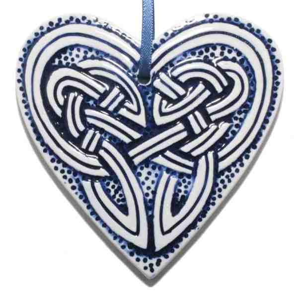 Hangend Keltisch Hart Blauw
