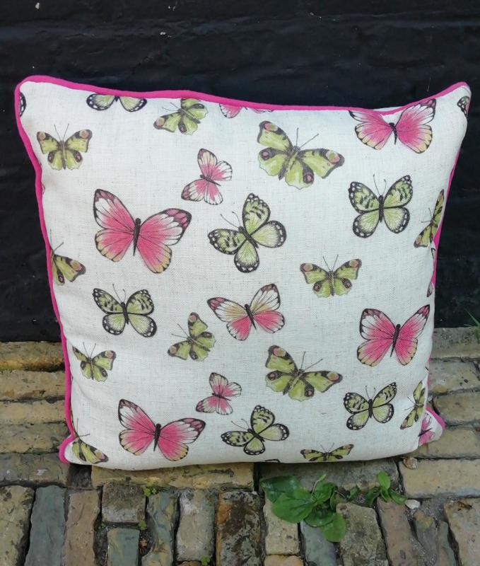 Vlinderkussen Roze