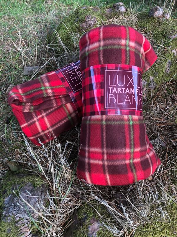 Fleece plaid Schotse ruit