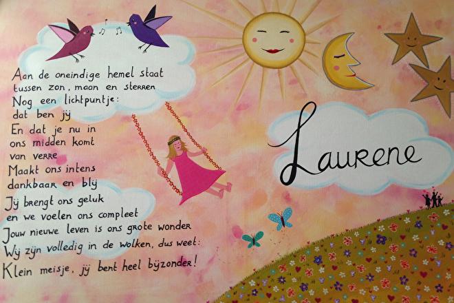geboorteschilderij Laurene