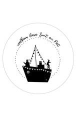 Muurcirkel Sinterklaas stoomboot 'Welkom lieve Sint en Piet'