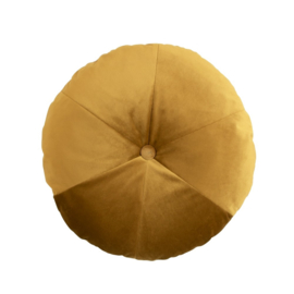 Velvet round cushion koper