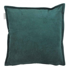 Cotton velvet dark green