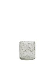 Theelicht glas steenslag helder