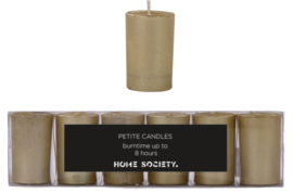 Votive candle  goud set van 6