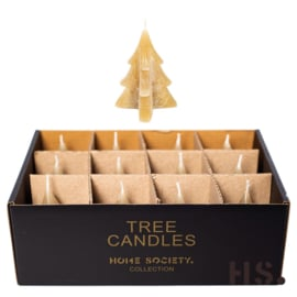 Tree candle s taupe
