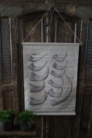 Foto kaart met hoorns