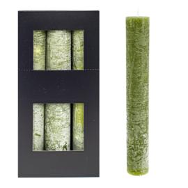 XL kaars groen Home Society (per stuk)