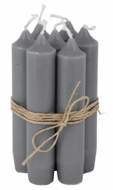 Short dinner candle dark gray