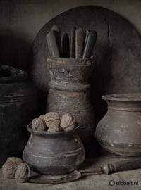 Schilders paneel keuken potten