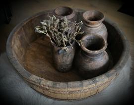 Originele oude houten schaal
