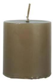 Pillar candle golden brown