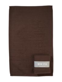 Handdoek (keuken) bruin met banderol