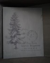 Schildersdoek kerstboom