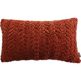 Smock in velvet rust Cushion