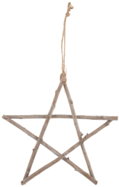 Star made from wooden sticks