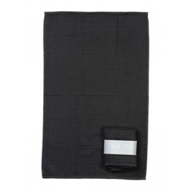 Handdoek (keuken) donker grijs met banderol