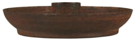 Candle holder f/dinner candle rust