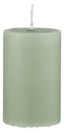 Pillar candle antique green