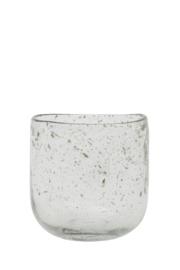 Vaas Ø10x10 cm PARLI glas steenslag helder