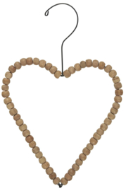 Heart for hanging wooden beads