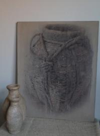 Kalkverf schilderspaneel Vismand