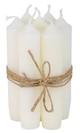 Short dinner candle white