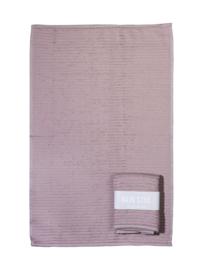 Handdoek (keuken) roze met banderol