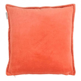 Cotton velvet burned orange