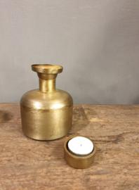 Vaasje metaal goud