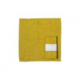 Vaatdoek licht geel met banderol