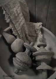 Kaart ornamenten grijs
