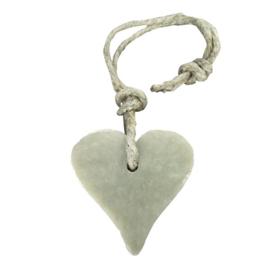 Hanger hart 55 gram licht grijs parfum cotton