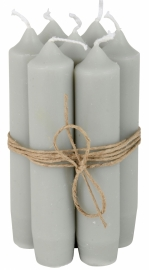 Short dinner candle grey