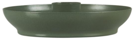 Candle holder f/dinner candle olive green