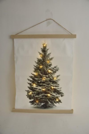 Canvasdoek kerstboom 15 led