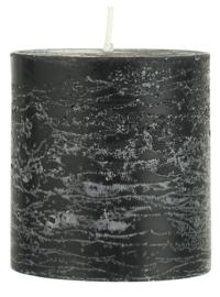 Rustic candle black Ø:7 H:7.5