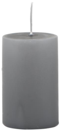 Pillar candle dark grey