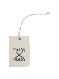 Label stof Merry X-mas
