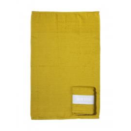 Handdoek (keuken) geel met banderol