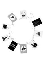 Sinterklaas slinger met 9 zwart wit kaarten