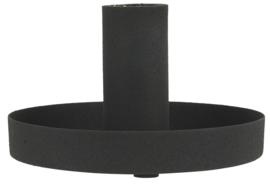 Candle holder f/dinner candle black