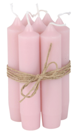 Short dinner candle pink