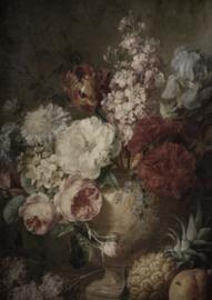Deco bordje vaas bloemen